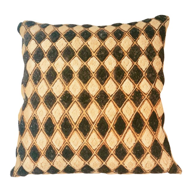 Vintage African Mudcloth Pillow For Sale