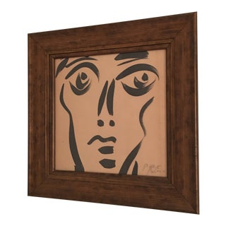 Peter Keil Abstract Cubist Face Painting For Sale