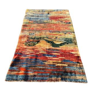 Vintage Persian Gabbeh Rug - 3′10″ × 6′7″ For Sale