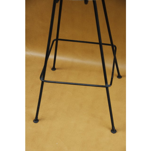 1960s Arthur Umanoff Wrought Iron Bar Stools - A Pair For Sale - Image 5 of 8