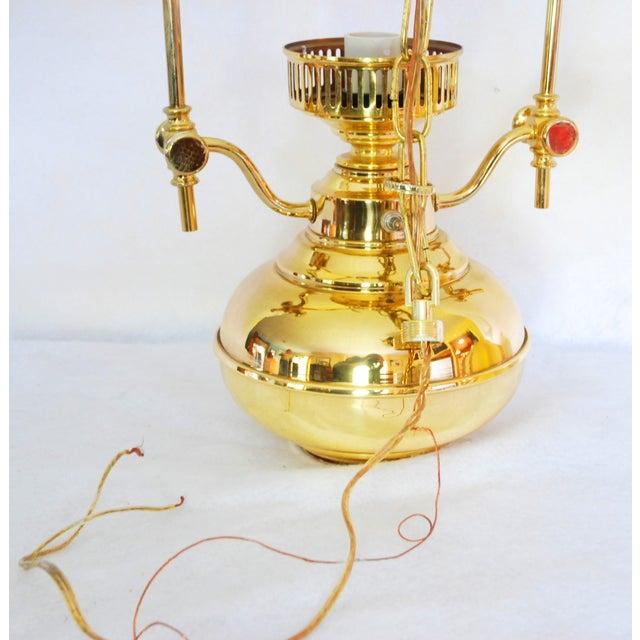 Vintage Polished Brass Pendant Lamp - Image 5 of 6