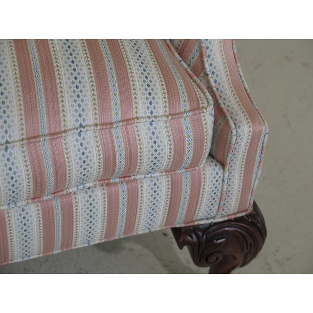 Chippendale Modern Southwood Ball & Claw Chippendale Upholstered Sofa For Sale - Image 3 of 13