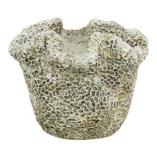 Cast Concrete Coral Planter For Sale