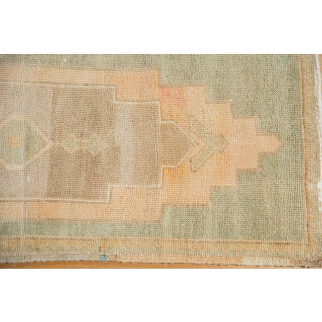 """Shabby Chic Vintage Distressed Oushak Rug Mat Runner - 1'7"""" X 4' For Sale - Image 3 of 7"""