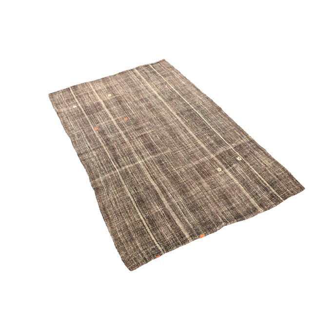 Turkish Anatolian Decorative kilim rug.