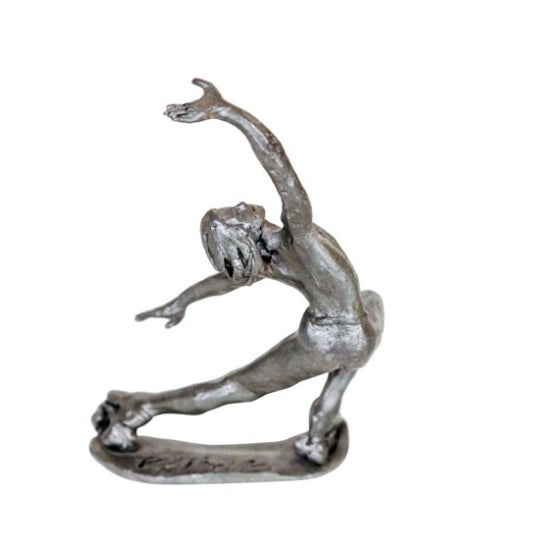 Pewter Roller Skater Figurine - Image 2 of 4