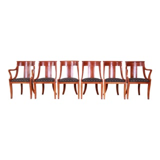 Baker Furniture Regency Dining Chairs, Set of Six For Sale