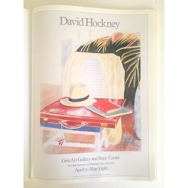 """Blue Vintage 1987 """"Hockney Posters"""" Rare 1st Edtn Extra Large Collector's Art Book For Sale - Image 8 of 11"""