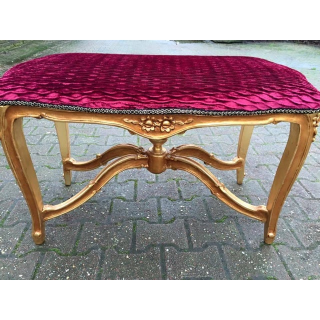 Bed Bench in Louis XVI Style with Gold Leaf - Image 5 of 6