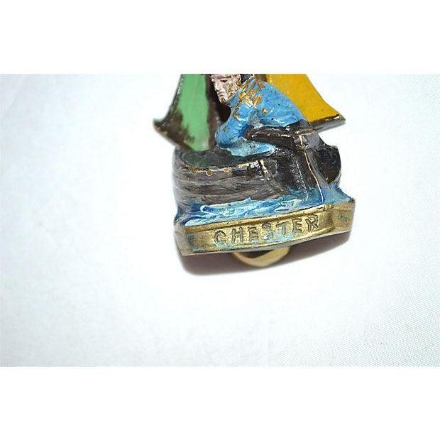 Original Enamel Sailboat Door Knocker - Image 4 of 11
