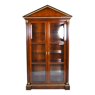 Fine Vintage Baker Furniture Neoclassical Empire Style Curio China Cabinet For Sale