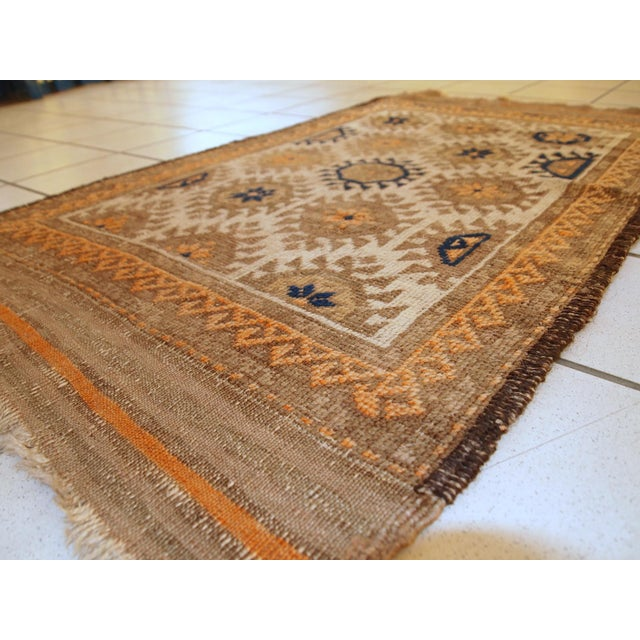 1890s Hand Made Antique Afghan Baluch Rug - 2′1″ × 3′9″ - Image 6 of 10