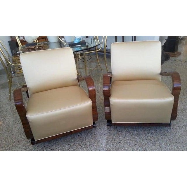 Art Deco 1930s Jindřich Halabala Style Lounge Chairs - a Pair For Sale In West Palm - Image 6 of 13