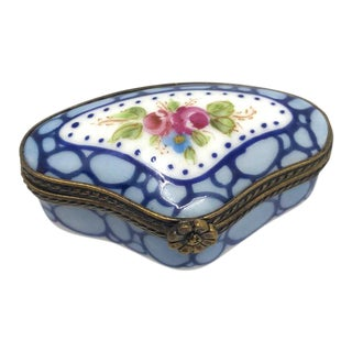 Limoges Hand Painted Small Box For Sale