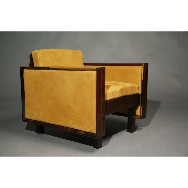 Animal Skin Mid-Century Modern Rosewood Chairs For Sale - Image 7 of 11