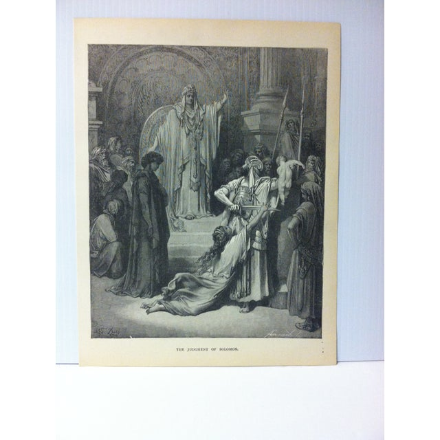 """This is real nice antique print on paper illustrated by Gustave Dore' that is titled """"The Judgement of Solomon"""". The print..."""