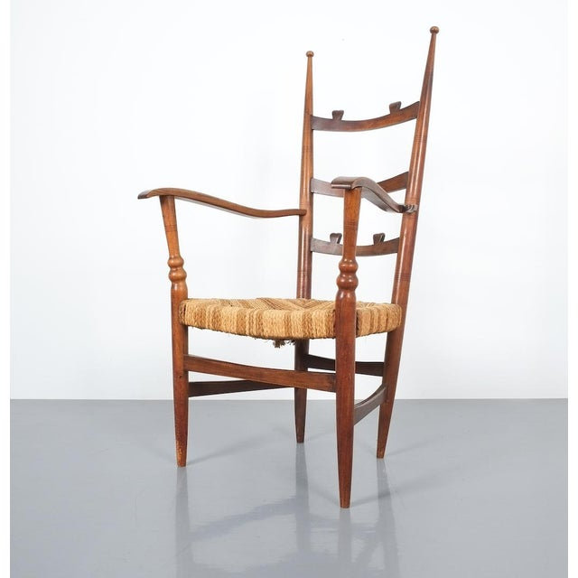 Armchair Attributed to Paolo Buffa, Possible Made by Marelli, Circa 1948 For Sale - Image 9 of 13