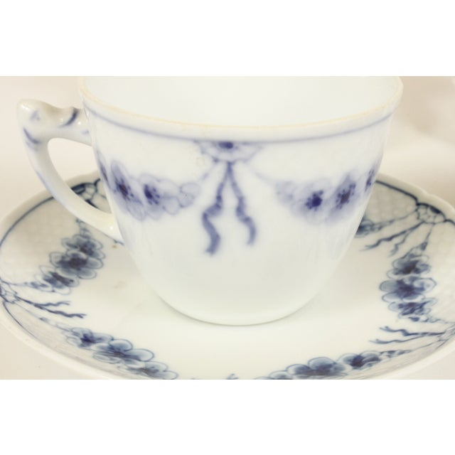 B&G Empire Blue Cups & Saucers- Set of 4 - Image 3 of 4
