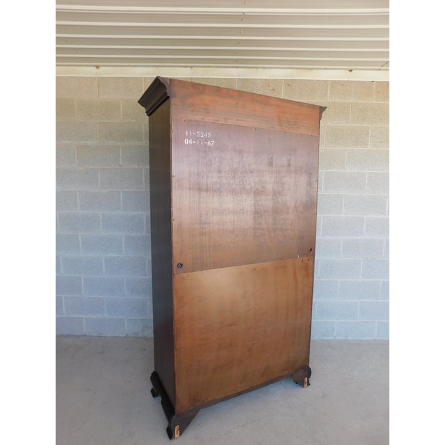 Ethan Allen Georgian Court Cherry Armoire / Chest 11-5245 For Sale - Image 11 of 13