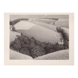 """1939 Grant Wood """"July Fifteenth"""", Original Period Lithograph For Sale"""