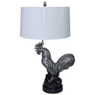 1950s Ceramic Rooster Table Lamp For Sale