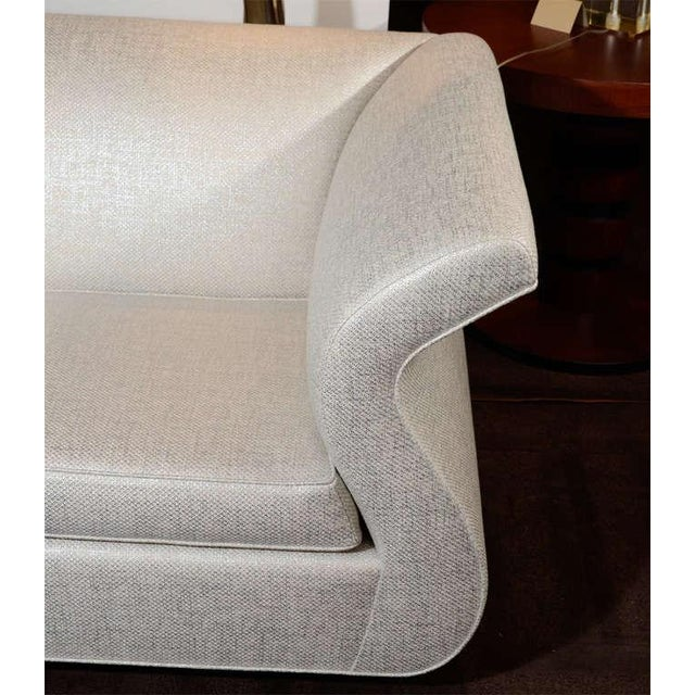 Textile Hollywood Regency Sofa Designed by Sergio Savarese for Dialogica For Sale - Image 7 of 12