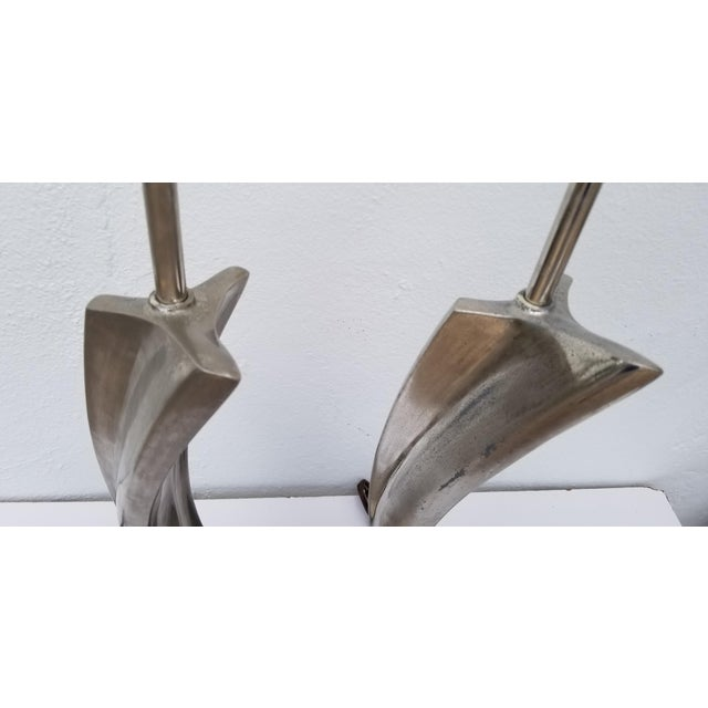 Chrome 1960s Maurizio Tempestini for Laurel Sculptural Table Lamps - a Pair For Sale - Image 7 of 13