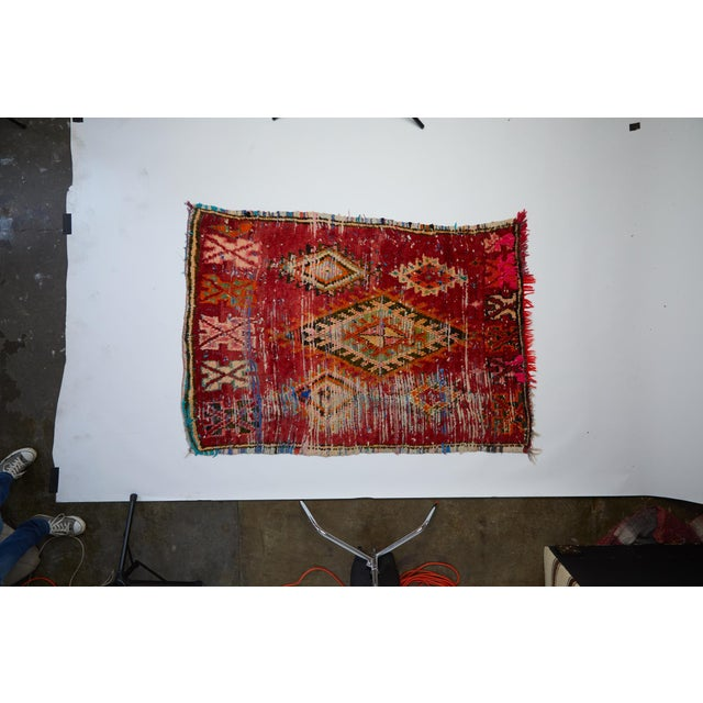 House of Cindy Moroccan Boucherouite Rug For Sale - Image 4 of 4