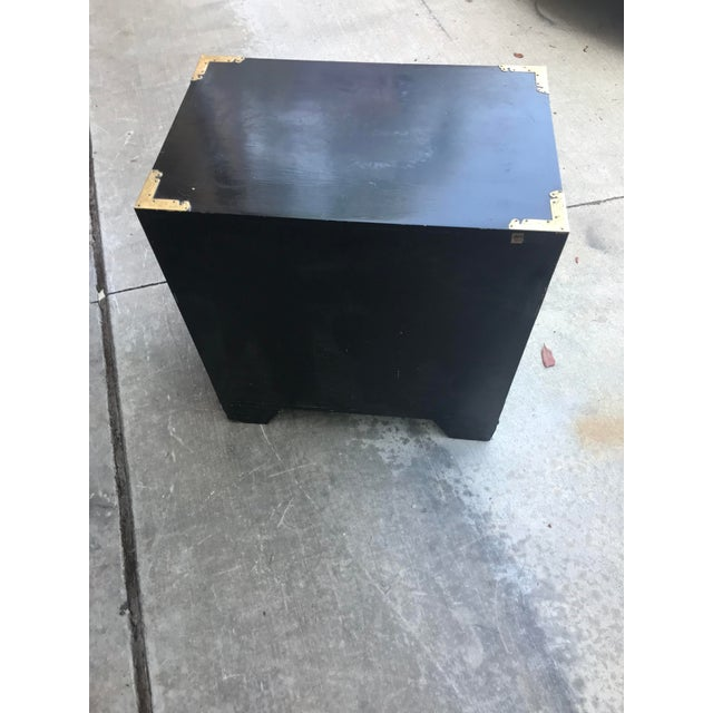 19th Century Antique Black Chinese Cabinet For Sale - Image 11 of 13