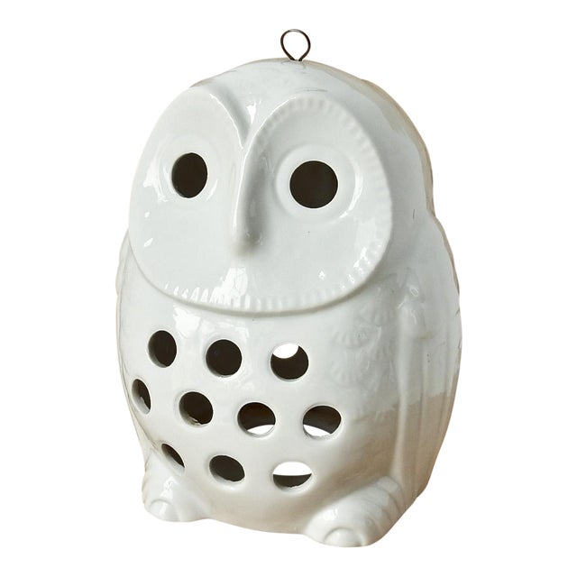 Vintage Owl Lantern Candle Holder - Image 1 of 6