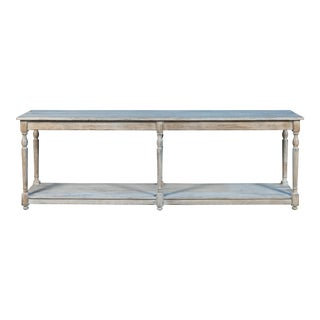 Shabby Chic Sarreid Ltd. Aubusson Console Table For Sale