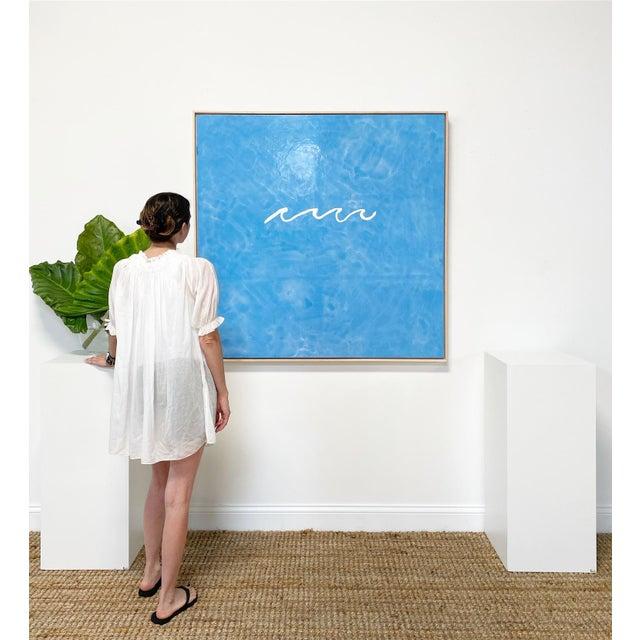 "John O'Hara John O'Hara ""Wave"" Encaustic Painting For Sale - Image 4 of 7"