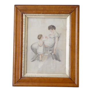 19th Century French Neo-Classical Style Drawing on Paper For Sale