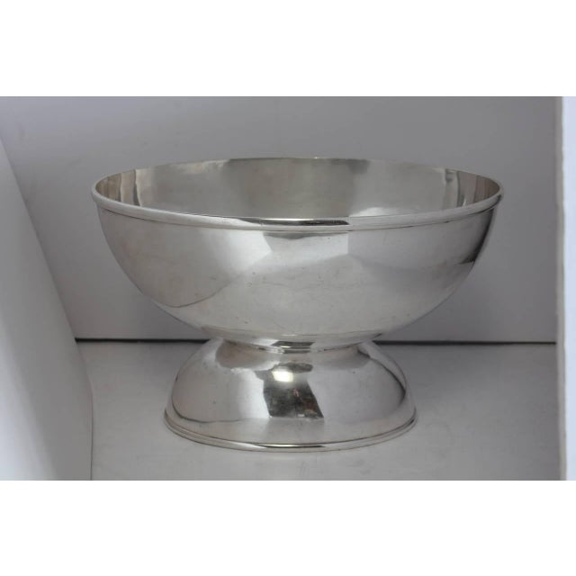 Stylish 1800s Large Oval Silverplate Champagne Cooler - Image 2 of 3
