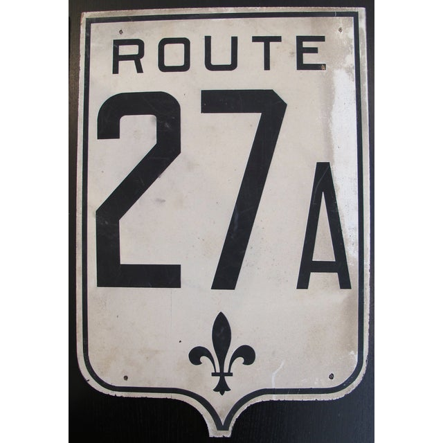 Vintage French Road Sign - Route. 27A - Image 2 of 3