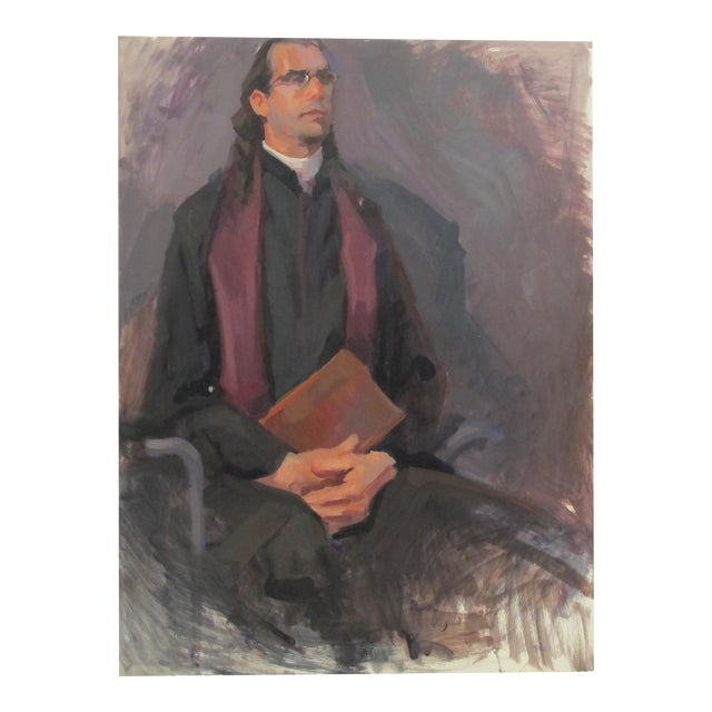 The Professor Oil Painting - Image 1 of 3