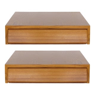 1960s Mid-Century Modern Paul Laszlo for Brown-Saltman Wall Hung Floating Nightstands - a Pair For Sale