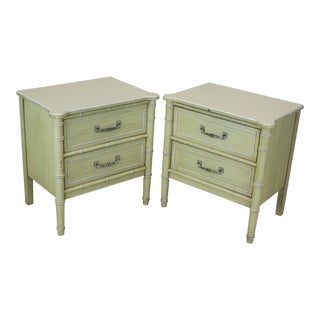 Vintage Palm Beach Style Nightstands - A Pair