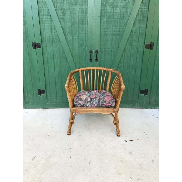 1950s Boho Chic Franco Albini Bamboo Side Chair For Sale - Image 11 of 11