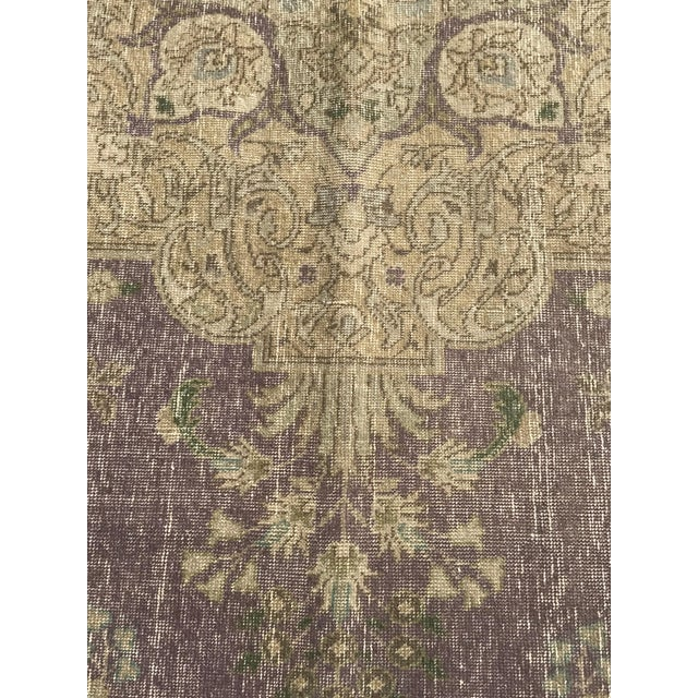 Islamic Large Antique Turkish Plum, Green, Beige Wool Rug - 9′5″ × 12′5″ For Sale - Image 3 of 13