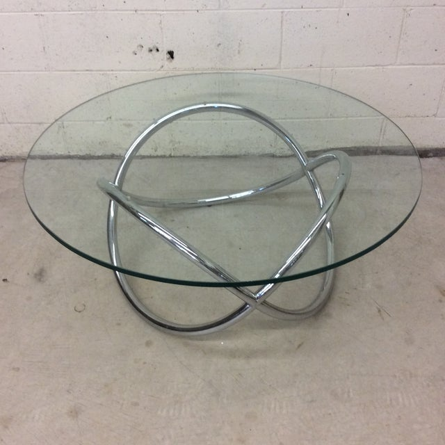 Mid Century Chrome Tubular Infinity Coffee Table For Sale - Image 10 of 10