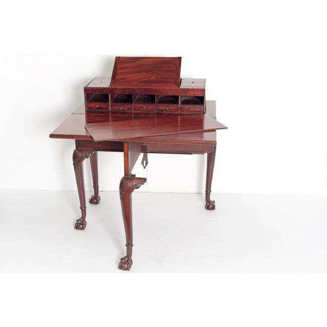Mahogany A George II Mahogany Harlequin Table For Sale - Image 7 of 13