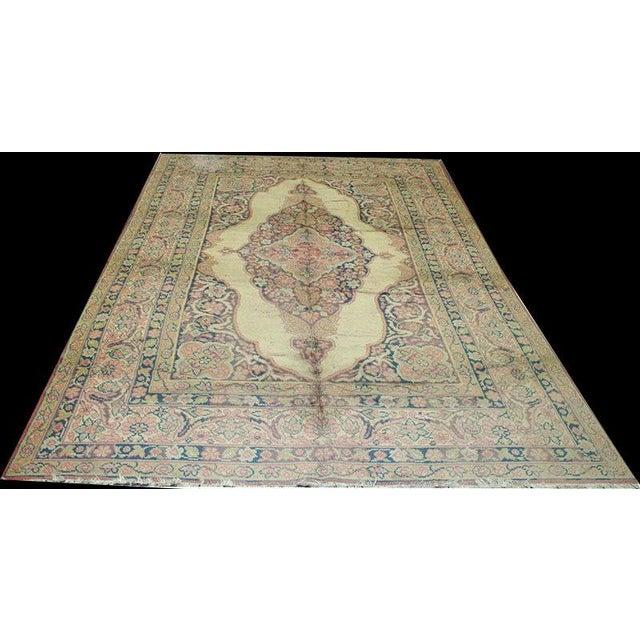 1930s Vintage Tabriz Haji Jalili Design Rug - 6′7″ × 7′5″ For Sale In Los Angeles - Image 6 of 6