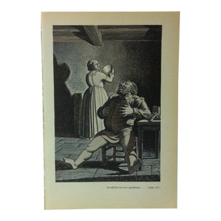 """1949 """"He Told Her He Was a Gentleman"""" the Decameron of Giovanni Buccaccio Illustrated Print For Sale"""