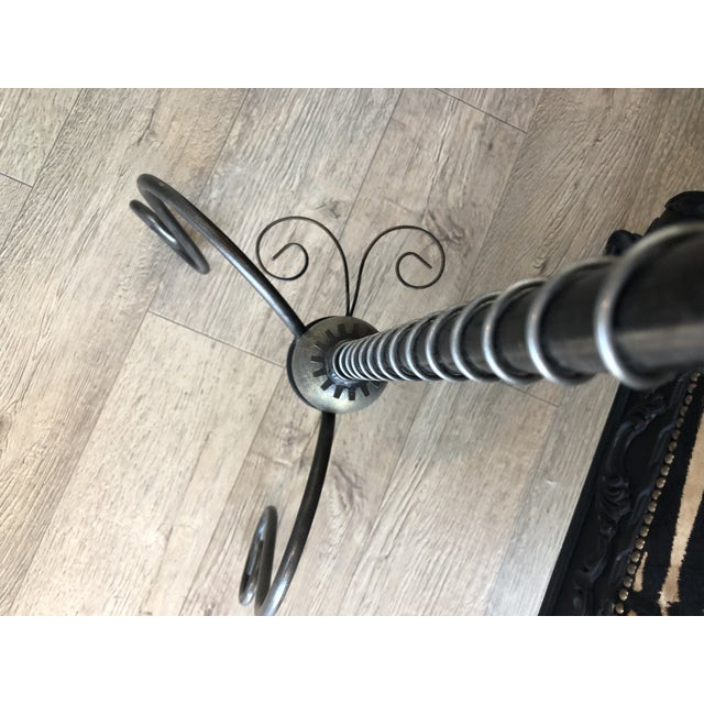 Versace 1990s Gothic Gear & Iron Pulley Floor Lamp For Sale - Image 4 of 9