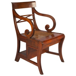 Early 20th Century Regency Style Metamorphic Armchair or Library Ladder