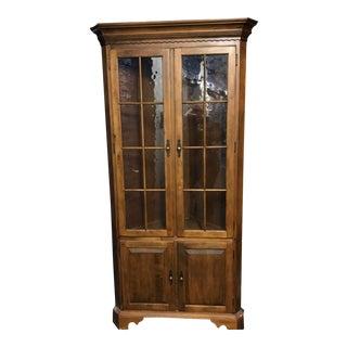 Ethan Allen 1776 Corner Display Cabinet
