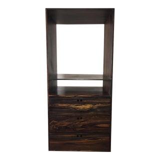 Contemporary Ebony Wood Dresser Tv Closet Stand Made by Custom Furniture Builders