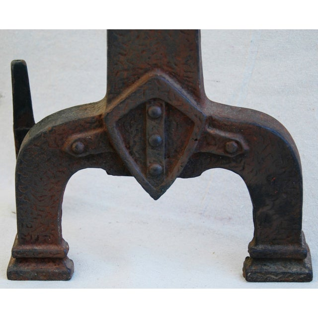 1920s Sheffield New York Fireplace Andirons - Pair For Sale - Image 7 of 11