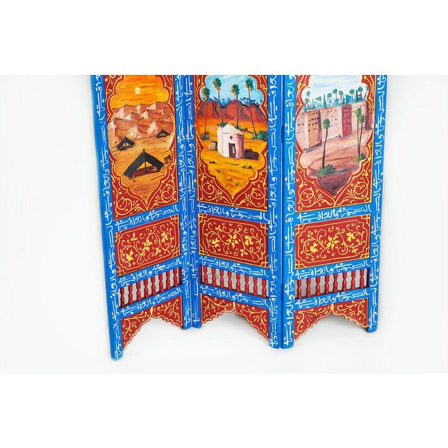 Moroccan Blue 3 Panel Screen - Image 3 of 6